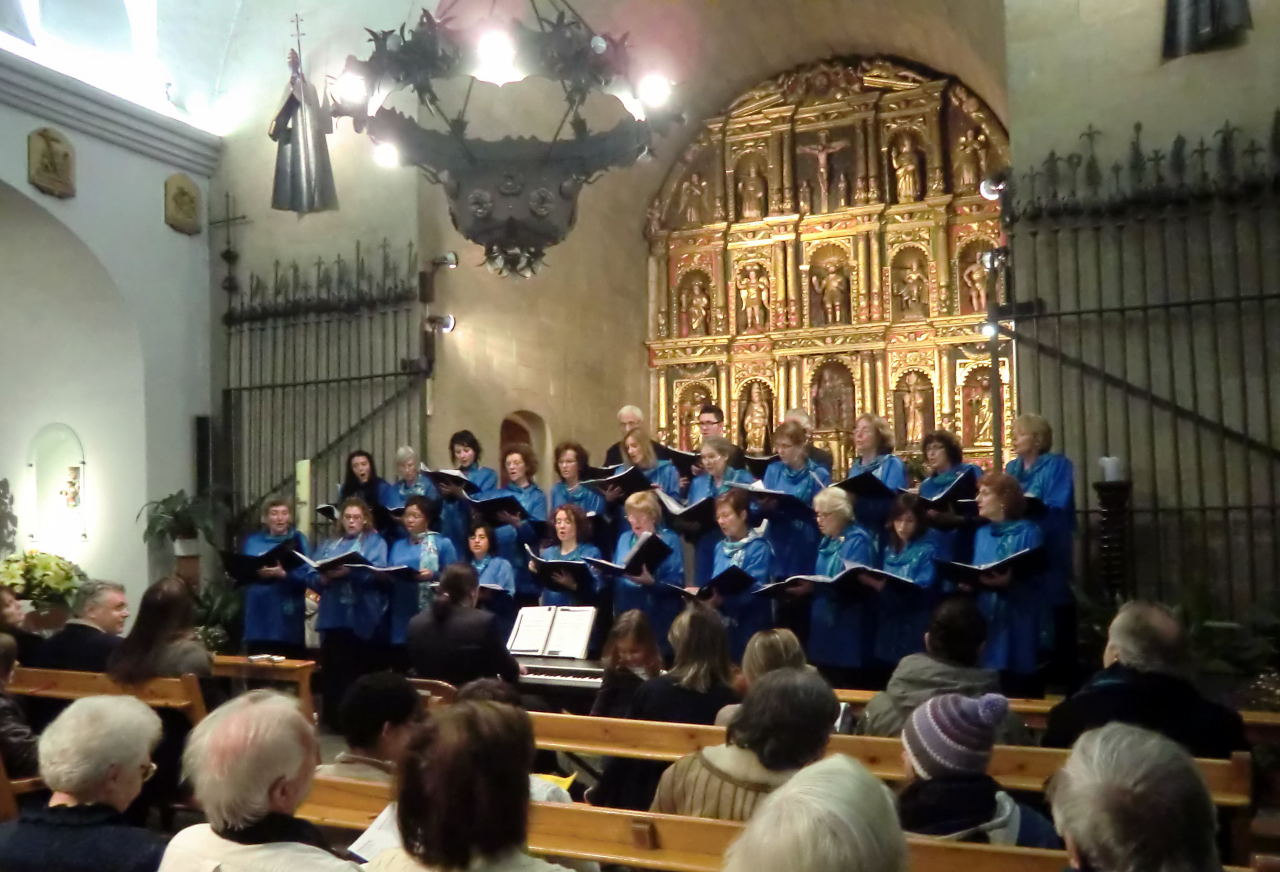 Carol Singing in Ordino church